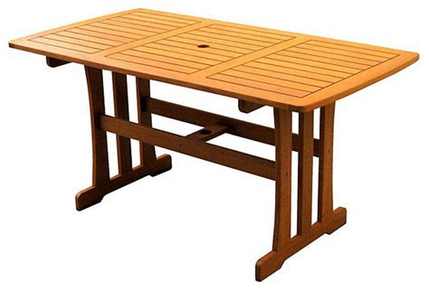 outdoor tables royal tahiti yellow balau wood rectangular dining table