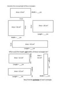 Perimeter Find The Missing Side Length Worksheet