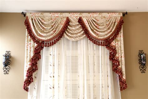 curtains with swag valance debutante overlapping swag and tail valance curtains