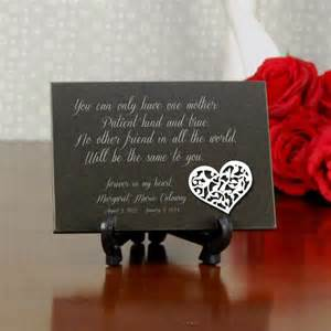 Mother Daughter Plaques Forever My Daughter Engraved Memorial Plaque