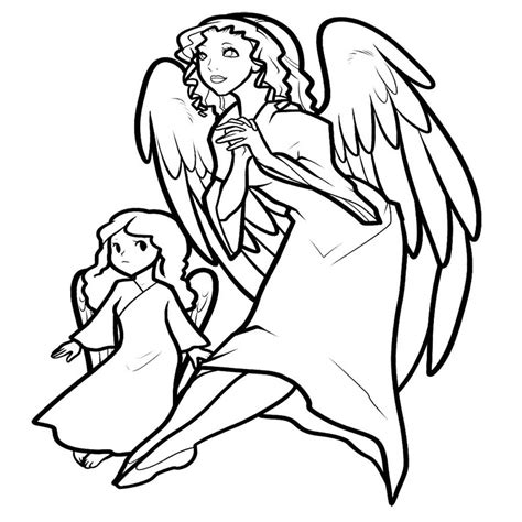 anime angel wings coloring pages