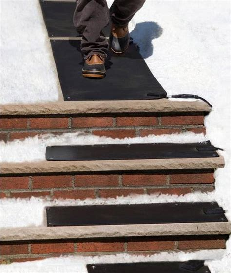 Mats For Outdoor Steps by These Heated Stair Mats Melt Snow And From Your