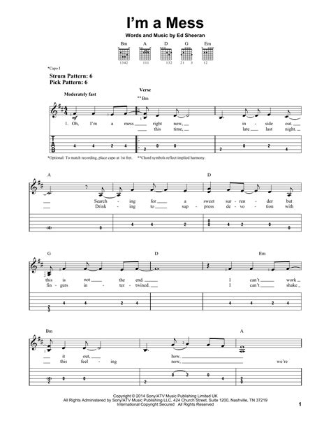 download mp3 ed sheeran i m a mess i m a mess sheet music direct