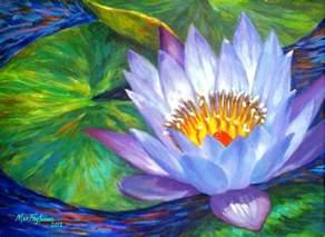 Painting Lotus Flower Lavender Lotus Flower Painting By Mon Fagtanac