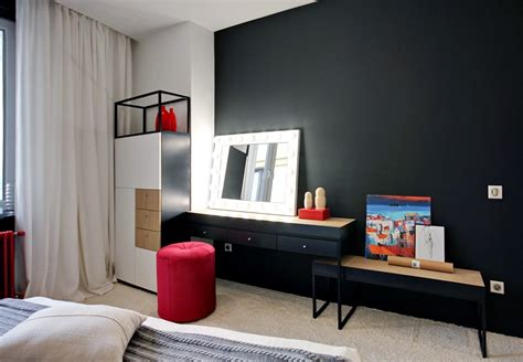 red black bedroom modern and stylish bedroom design with red theme for