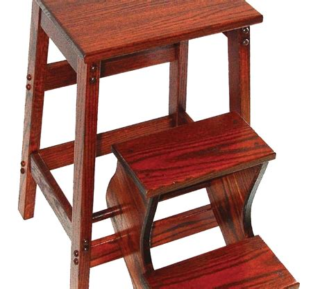 Oak Step Stool by Folding Solid Oak Step Stool Made By Amish Craftsmen
