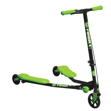 Scooter by Yvolution A1 Air Y Fliker Kids Scooter Black Green