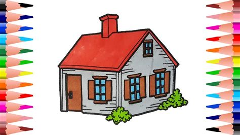 how to draw a house kids pinterest house drawing drawings and how to draw and paint house drawing house and coloring