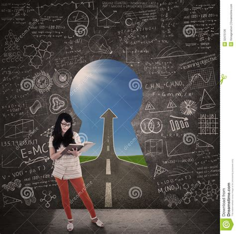 Road To Novel asian student reading book with success road royalty free stock image image 32475136