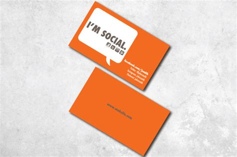 Business Cards With Social Media Info Template by I M Social Business Card Business Card Templates On