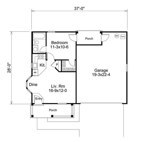 one garage apartment floor plans plan w2225sl one garage apartment e architectural