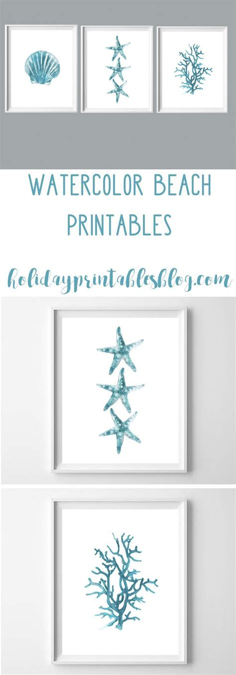 free printable pictures home decor watercolor beach printables free printable art beach