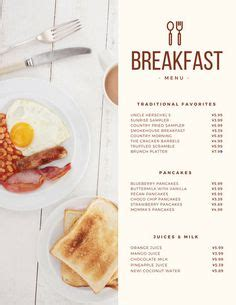 cover layout of continental breakfast breakfast menu design ideas google search menu design