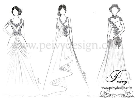 sketch design gaun peivy for your special moments mama gown sketch by