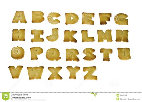 Letter Biscuit Letter Shape Biscuits Stock Photo Image 39526113