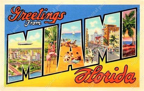 printable postcards florida miami florida greetings digital postcard clipart image