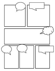 comic strip template pages for creative assignments for