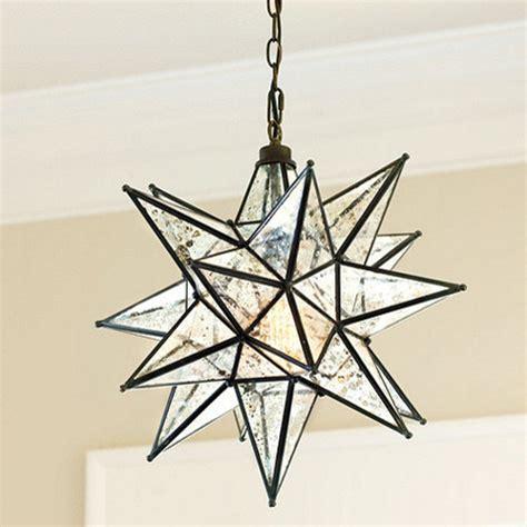 moravian star pendant mercury glass modern pendant