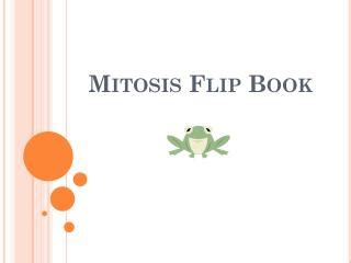 mitosis flip book pictures ppt mitosis flip book powerpoint presentation id 2664622