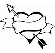 Heart With Arrow Coloring Pages MEMES