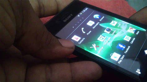 Sony Xperia Miro St 23i Hitam sony st 23i xperia miro showcase in hd