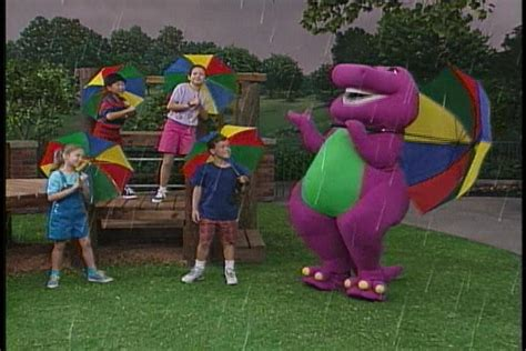 Go Barneys The Fall Barney Color by The Raindrop Song Barney Wiki