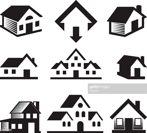 house  real estate black white royaltyfree vector arts