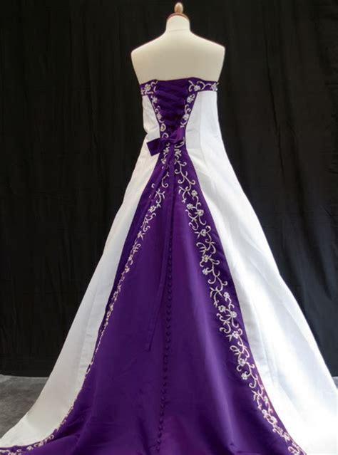 Custom Wedding Dresses Purple And White by Wedding By Designs Purple And White Wedding Dress