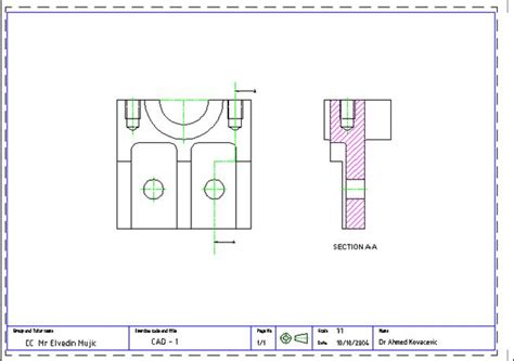 autocad tutorial in zamboanga city autocad tutorial 1 draw the front view of the mechanical part