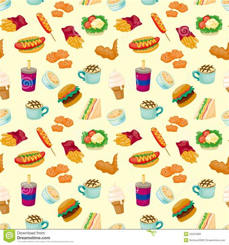 seamless pattern food seamless fast food pattern royalty free stock images