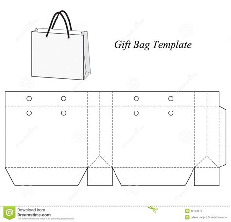 Gift Bag Cards For Baby Template by Blank Gift Bag Template Stock Vector Image 48154672