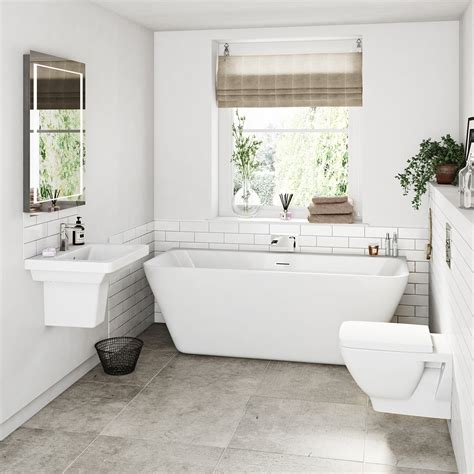 White Bathroom Suites Sale by Mode Cooper Bathroom Suite With Back To Wall Bath