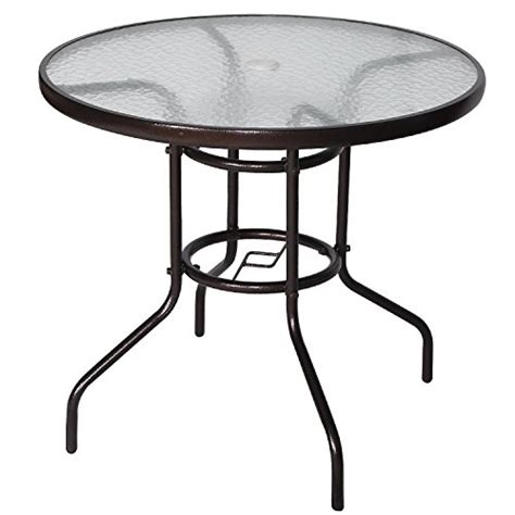 Cloud Mountain 32? Patio Tempered Glass Dining Table