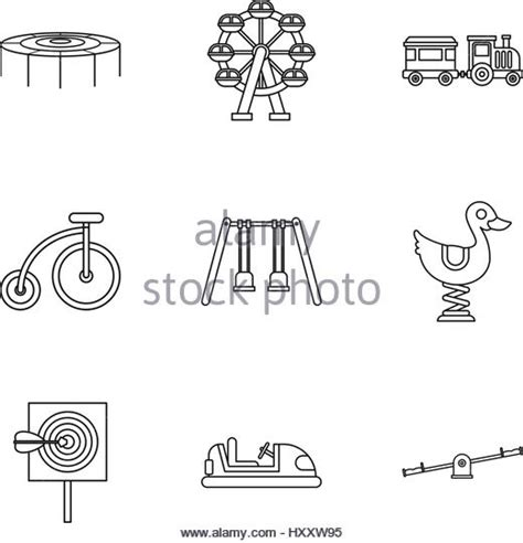 Swing Outline Exle by Playground Drawing Black And White Stock Photos Images Alamy