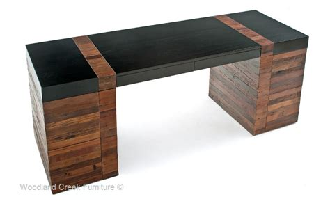 Modern Rustic Desk Contemporary Wood Office Desk Urban Desk Modern Wood Office Desk