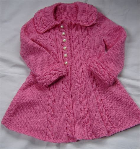 Baby Toddler Sweater Coat Swing Style Knit Crochet