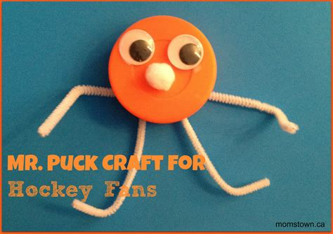 hockey crafts for mr puck craft for hockey fans momstown national