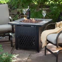 Outdoor Patio Table With Propane Fire Pit by Uniflame Slate Mosaic Propane Fire Pit Table With Free