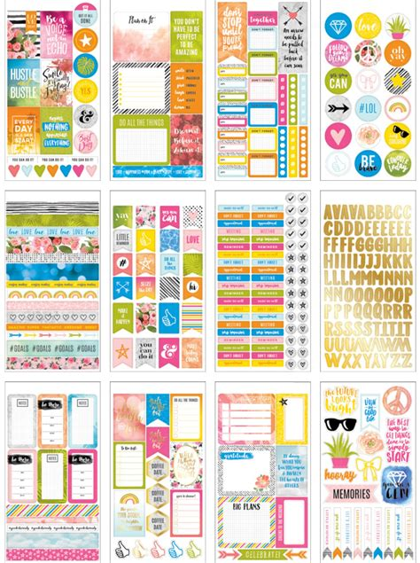 American Planner Stickers