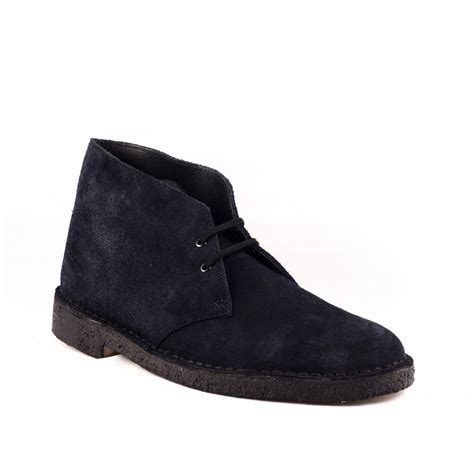 boot lace up clarks originals desert boot in blue suede