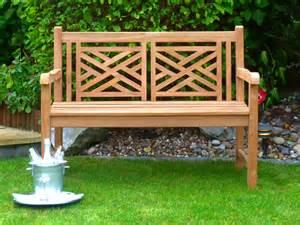 garten arbeitstisch oxford cross weave back teak bench 120cm teak bench