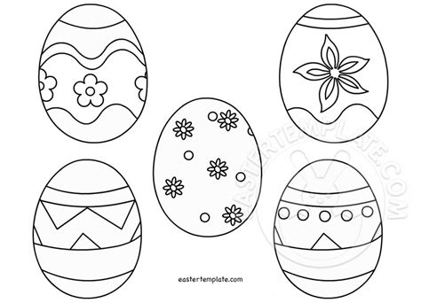free printable easter templates easter egg template printable easter template