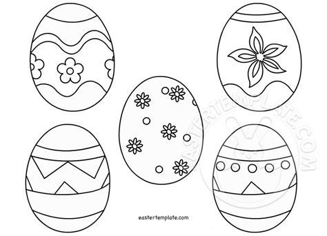 Easter Egg Template Free Printable