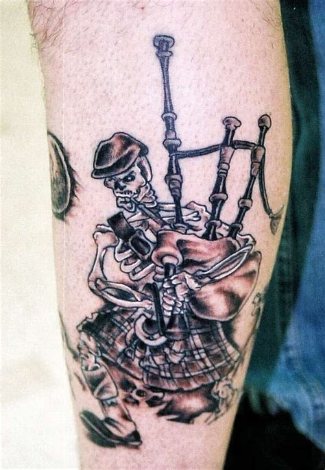 scottish piper tattoo designs collection of 25 skeleton piper on leg