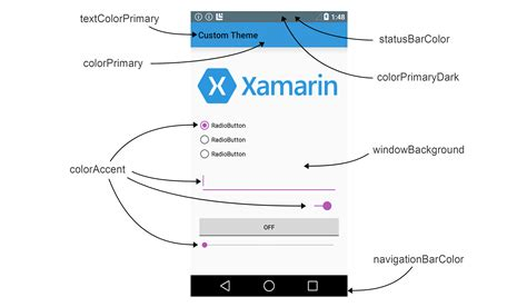 Xamarin Layout Background Color | material theme xamarin