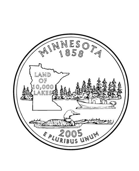 printable picture of quarter usa printables minnesota state quarter us states