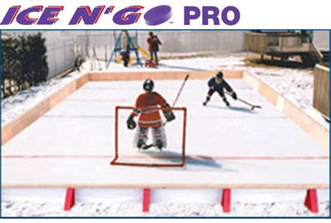 backyard ice rink kits reviews ice n go pro residential hockey player backyard rink kit