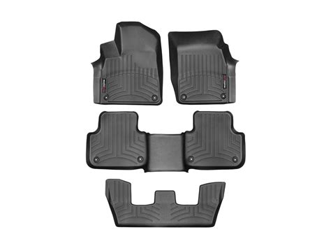 weathertech floor mats floorliner for audi q7 2017 black ebay