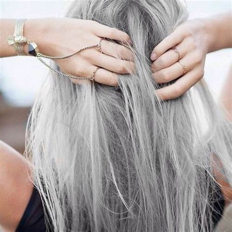 gray hair fad granny hair trend young women are dyeing their hair