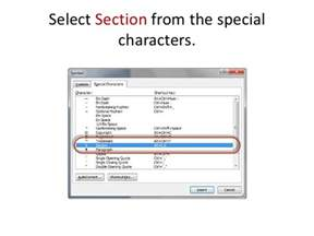how to add a word shortcut for the section symbol for